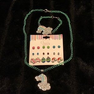 Rainbow Jewelry Set - 9 pairs of earrings- NWT